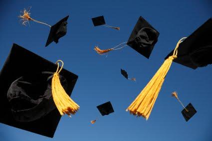 graduation-caps-thrown-in-air