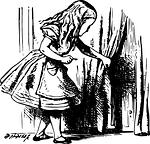 Alice and doorway